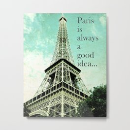 Paris Dreamer Metal Print