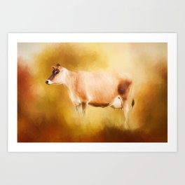 Jersey Cow In Field Art Print