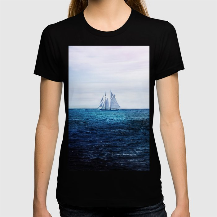 Sailing Ship on the Sea T-shirt