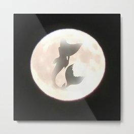 Mermaid Moon Metal Print