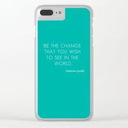 Mahatma Ghandi quote Clear iPhone Case