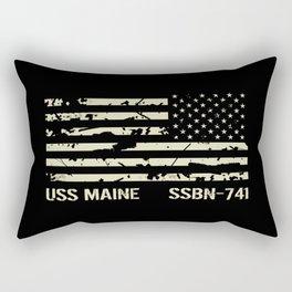 USS Maine Rectangular Pillow