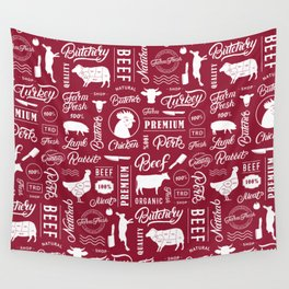 Butchery Meat Lovers Wall Tapestry
