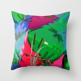 Dancing Dragons. Throw Pillow