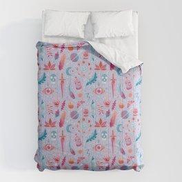 Magic watercolor Comforters