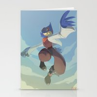 starfox Stationery Cards featuring Falco Lombardi  by Taylor Barron