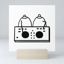 DJ Boobies Party On Mini Art Print