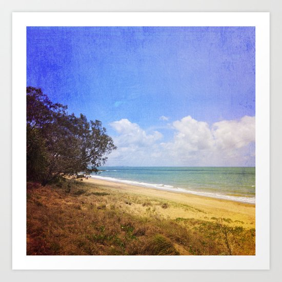 Beautiful Day by the Sea Art Print