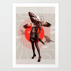 Shark Lady · Honey, what do you do for money? Art Print