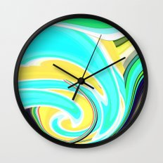 Re-Created  Sour Candy 6 by Robert S. Lee Wall Clock