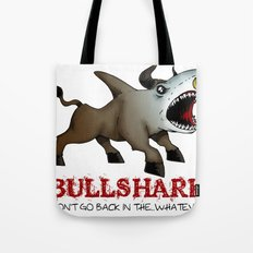 Bullshark Color Bull Shark Jaws by RonkyTonk Tote Bag