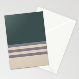 Magic Dust Purple PPG13-24 & Sourdough Beige Horizontal Stripes on Night Watch Green Stationery Cards