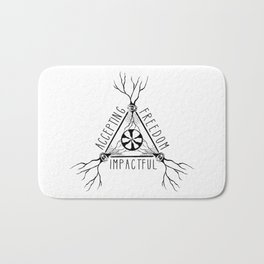 ACCEPTING - FREEDOM - IMPACTFUL Bath Mat