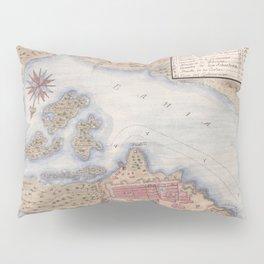 Vintage Map of San Juan Puerto Rico (1770) Pillow Sham