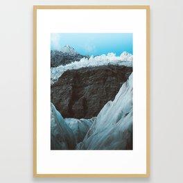 Diamond shapes on Franz Josef Glacier Framed Art Print