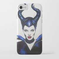 maleficent iPhone & iPod Cases featuring Maleficent by Aggelikh Xiarxh