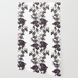 Blackberry Spring Garden - Birds Bees and Flowers Wallpaper