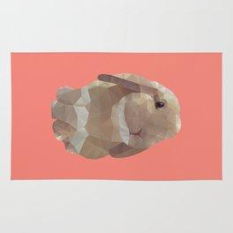 Peanut Bunny the Rabbit Polygon Art Rug