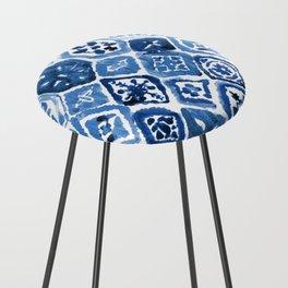 Arabesque tile art Counter Stool