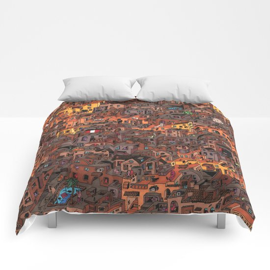 Gold Favela Comforters