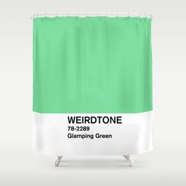 Glamping Green Shower Curtain