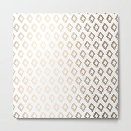 Gold Diamond Design II Metal Print