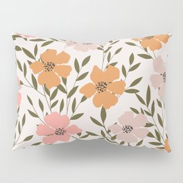 70s Floral Theme Pillow Sham