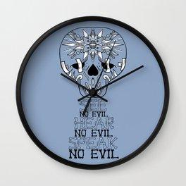 Cute Skull See no Evil Wall Clock
