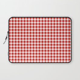 Christmas gingham pattern red and green cute gifts home decor for the holidays Laptop Sleeve