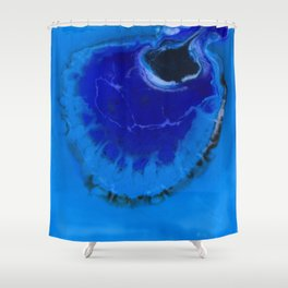 The Infinite Blue Shower Curtain