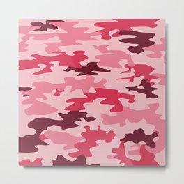 Camouflage Print Pattern - Pinks & Purples Metal Print