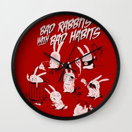 Bad Rabbits Wall Clock
