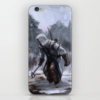 assassins creed iPhone & iPod Skins featuring Assassins Creed - Connor by Juhani Jokinen