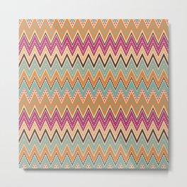Seamless chevron zigzag pattern geometrical background Metal Print