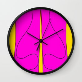 Straight Lines / Squiggly Lines Wall Clock