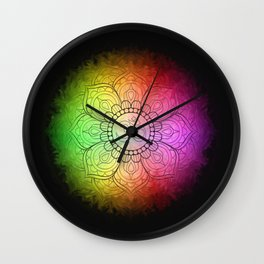 Colours of Om Wall Clock
