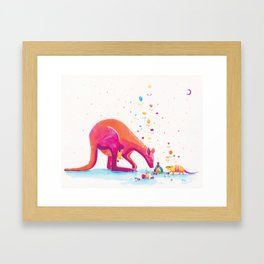 Princess Kangaroo Art Print - Armadillo's Generous Offering Framed Art Print