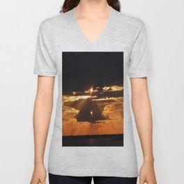 Exhilarating sky Unisex V-Neck