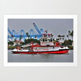 "Los Angeles Fire Boat ""San Pedro California  Art Print"