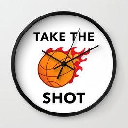 Take The Shot Wall Clock