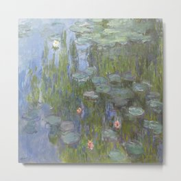Claude Monet's Water Lilies Metal Print