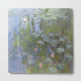 Claude Monet's Water Lilies Metal Print