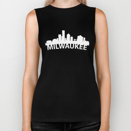 Curved Skyline Of Milwaukee WI Biker Tank