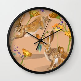 Jackrabbits Joy to Spring Wall Clock