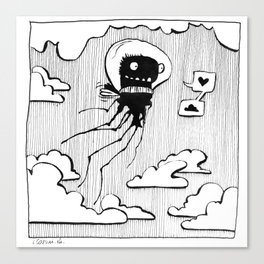 Flying squid – Seppiolina volante Canvas Print