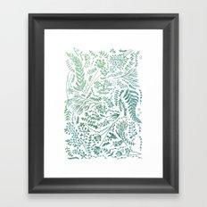 GREEN HERBS Framed Art Print