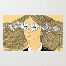 Flowers in My Eyes (Life in a Glimpse) Rug