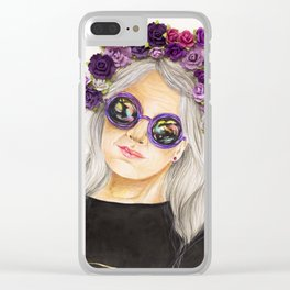 Marguerite Clear iPhone Case