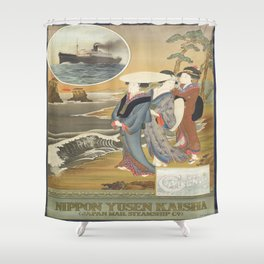 Vintage poster - Nippon Shower Curtain