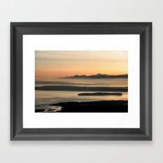 Puget Sound Sunset Framed Art Print